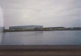 Kade en haven bij Outokumpu Steel Processing op de Axelse Vlakte...
