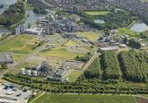 Cargill Sas van Gent, met op de voorgrond de alcoholplant. Op de...