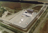 Luchtfoto vestiging Vos Logistics in het logistiek park...