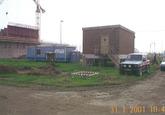 Bouw van een kade aan de kop van de Zevenaarhaven bij de in aanbouw...