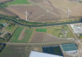 Luchtfoto Zijkanaal C naar de Axelse Sassing.