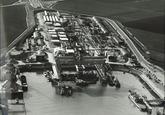 Luchtfoto, waarschijnlijk Scheldepoort te Vlissingen-Oost.