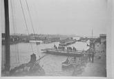 Reproductie van een foto ca. 1907 van de brug nabij Sluiskil.