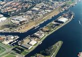 Luchtfoto landtong Schependijk Terneuzen met zijkanaal A.