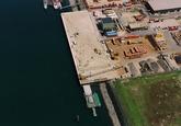 Luchtfoto kade in de Kaloothaven.