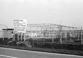 Nieuwbouw loods van Handexas aan de Engelandweg in Terneuzen.