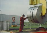 Outokumpu Steel Processing op de Axelse Vlakte 1993/1994  Lossen...