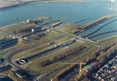 Luchtfoto nieuwbouw kantoor Zeeland Seaports aan het Schelpenpad te...