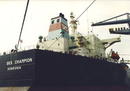 Overslag van kolen aan de terminal van Ovet in de Kaloothaven.