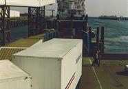 Ro-ro schip aan het steiger van Olau Line in de Buitenhaven.