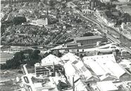 Overzichtsfoto van de kern Sas van Gent met op de voorgrond de...