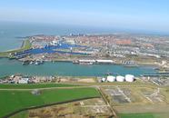 Luchtfoto van de Buitenhaven te Vlissingen