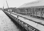 Nieuwe kade van de verlengde Zevenaarhaven bij de bulkterminal van...