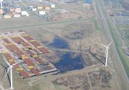 Opslag buizen voor de productie van windmolens te Vlissingen-Oost,...