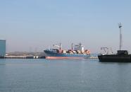 Zeeschip John Rickmers in de Scaldiahaven.