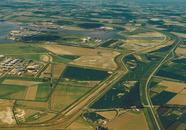 Luchtfoto gedeelte van het havengebied Vlissingen-Oost, met...