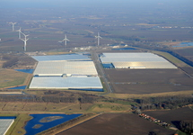 Glastuinbouwcomplex in de Autrichepolder.