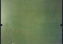 Luchtfoto Sloegebied, koelwaterinlaat kerncentrale.