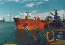 Zeeschip aan een steiger in de Braakmanhaven. Foto gemaakt ten behoeve...