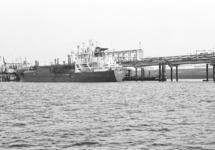 Zeeschip aan de steiger bij Dow Chemical in de Braakmanhaven.