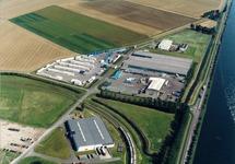 Luchtfoto bedrijventerrein Sas van Gent Noord.