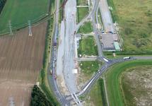 Luchtfoto kruising Europaweg-Oost / Luxemburgweg te Vlissingen-Oost.