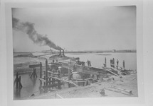 Reproductie van een foto kanaalverbredingswerken ca. 1907....
