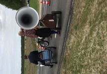 Opening industrieweg door Burgemeester Jan Lonink op het MVT