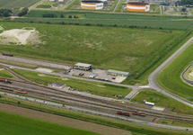 Wielerronde Ronde van Zeeland Seaports. Passage bij de Europaweg-Oost.