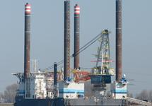 Werkschip in de Westhofhaven