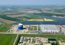 Suikerterminal in aanbouw aan de Autrichehaven voor Vlaeynatie