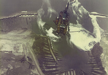 Luchtfoto aanleg Braakmanhaven en inpoldering Mosselbanken...