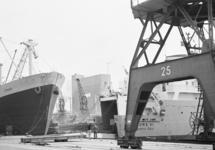 Ro-ro schip in de Zevenaarhaven.