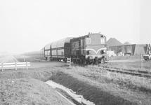 Transport van kolen met wagons in de omgeving van de terminal van Ovet...