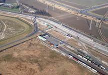 Luchtfoto terreinen en spoor aan de Liechtensteinweg te...