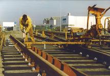 Uitbreiding spoor aan de Denemarkenweg.