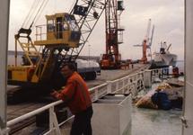 Aan boord van een schip in de haven van Vlissingen-Oost.