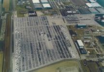 Luchtfoto terminal van Cobelfret aan de Ritthemsestraat te...