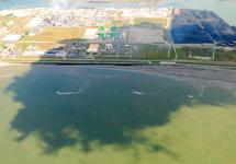 Luchtfoto gedeelte van het Kalootstrand te Vlissingen-Oost.