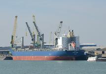 Zeeschip Star Lygra aan de Sloekade bij Verbrugge Terminals.