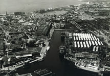 Luchtfoto binnenhaven Vlissingen.