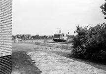 Locomotief op het spoor nabij de Noorwegenweg. De foto is genomen...