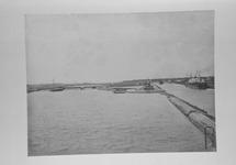 Reproductie van de kanaalverbeteringswerken, omstreeks 1907.