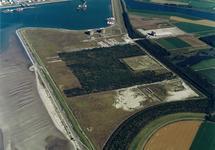 Luchtfoto Mosselbanken, Logistiek park en Braakmanhaven.