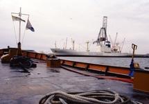 Binnenvaartschip in de haven van Vlissingen-Oost.
