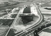 Luchtfoto werkzaamheden verlengen Zuiderkanaalhaven en aanleg...
