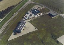 Luchtfoto bedrijven aan de Groenlandweg te Vlissingen-Oost.