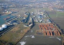 Buitenhaven Vlissingen, toekomstige locatie Marinierskazerne. Op de...
