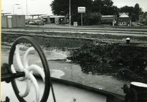 Ingestorte kademuur aan de noordzijde van Zijkanaal A.