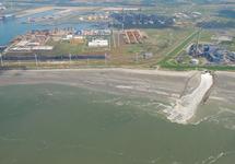 Luchtfoto gedeelte van het Kalootstrand ter hoogte van de...